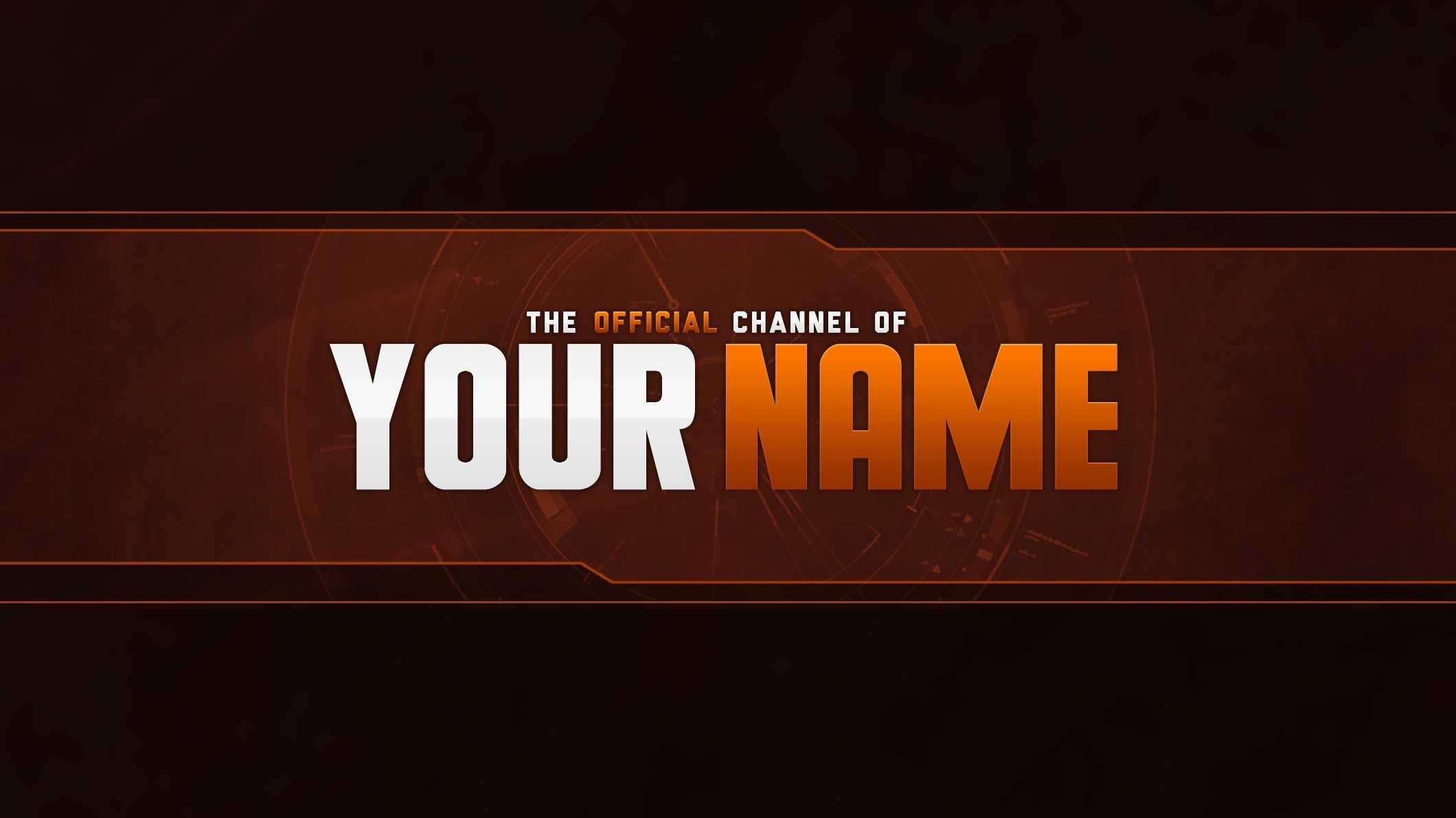 14 Youtube Banner Psd T Images – Free Youtube Banner Regarding Yt Banner Template