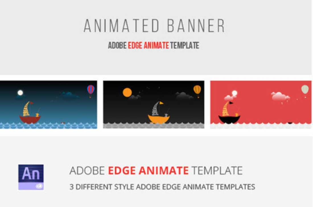 40 Awesome Edge Animate Templates For Animated Banner Template