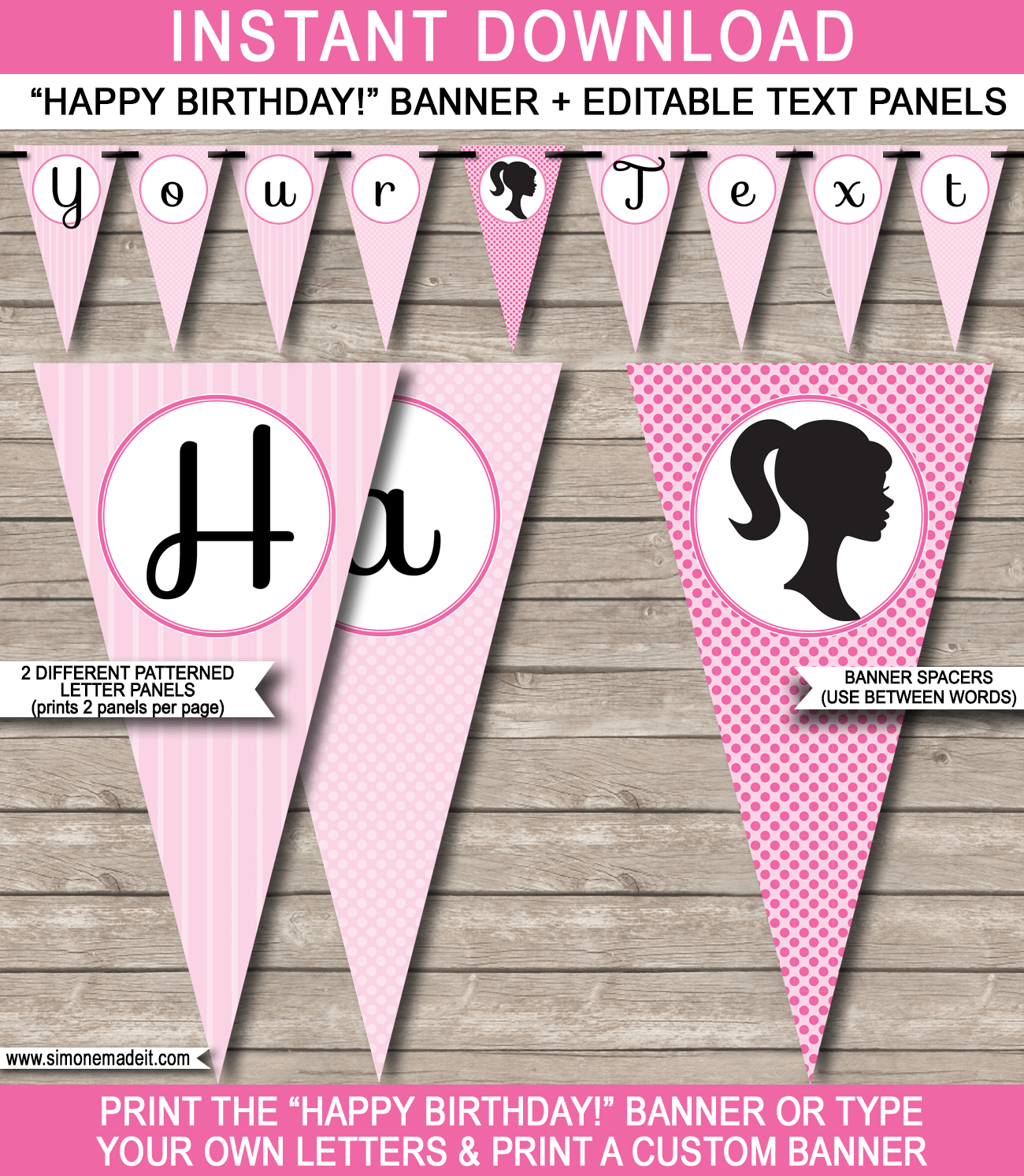 Barbie Party Banner Template Inside Diy Party Banner Template