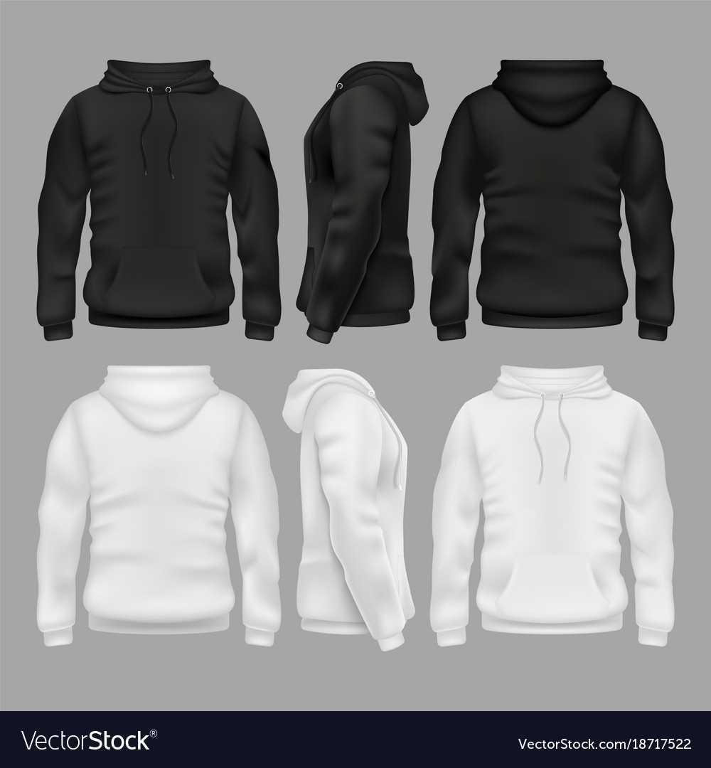 Black And White Blank Sweatshirt Hoodie With Regard To Blank Black Hoodie Template