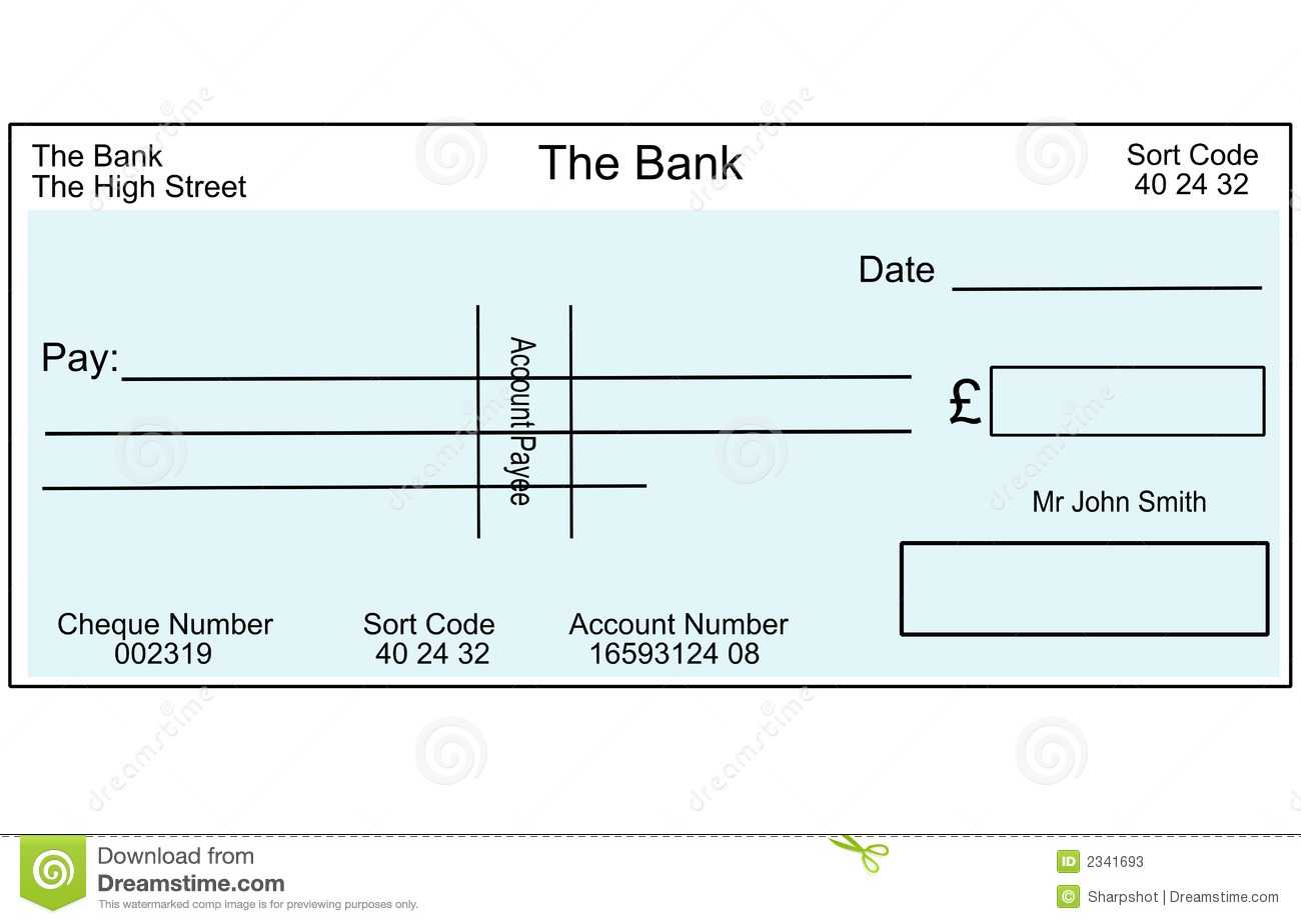 Blank British Cheque Stock Illustration. Illustration Of With Regard To Fun Blank Cheque Template