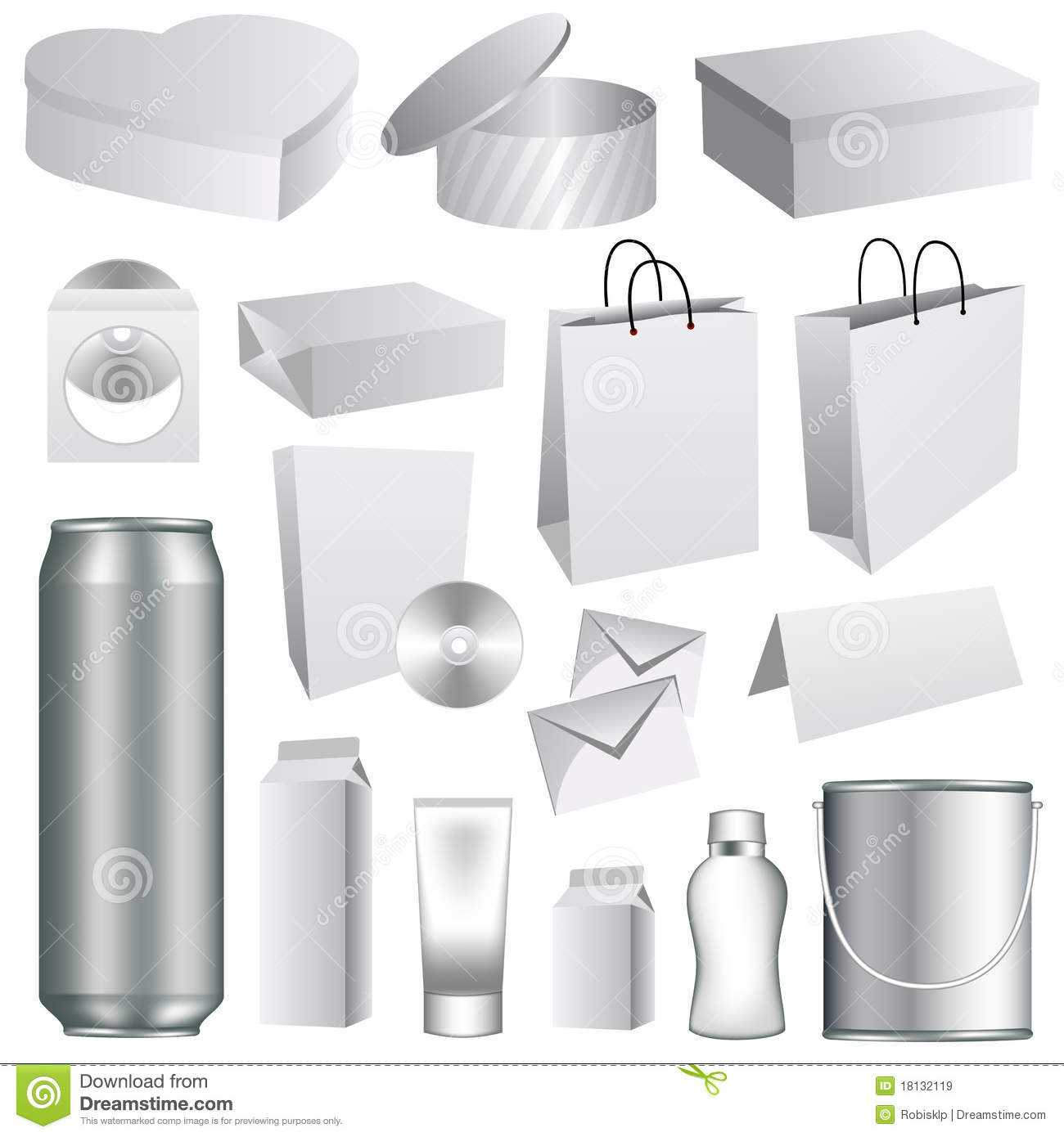 Blank Packaging Templates Stock Vector. Illustration Of For Blank Packaging Templates