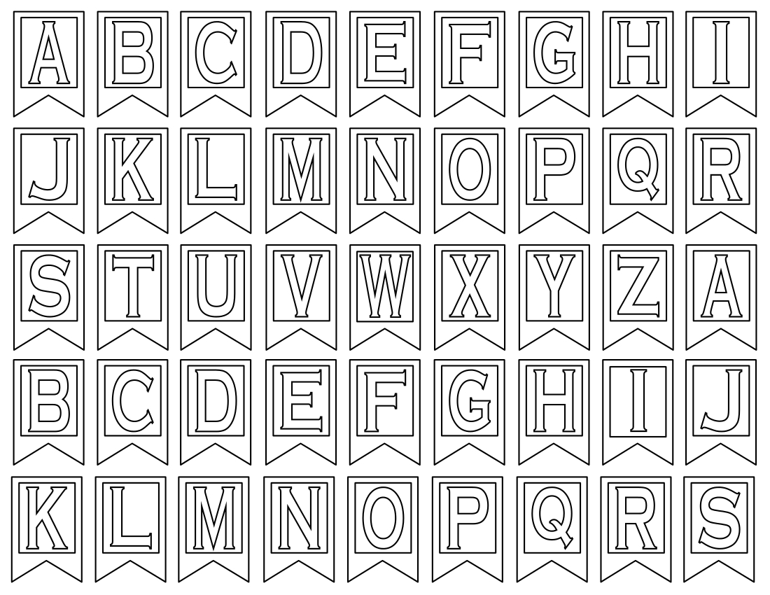 Clipart Letters For Banners Throughout Letter Templates For Banners