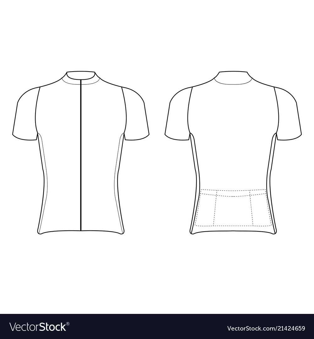 Cycling Jersey Design Blank Of Cycling Jersey With Regard To Blank Cycling Jersey Template