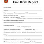 Fire Drill Report Template Uk – Fill Online, Printable For Emergency Drill Report Template