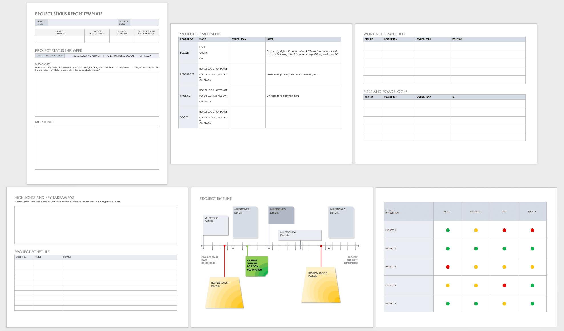 Free Project Report Templates   Smartsheet For Progress Report Template Doc