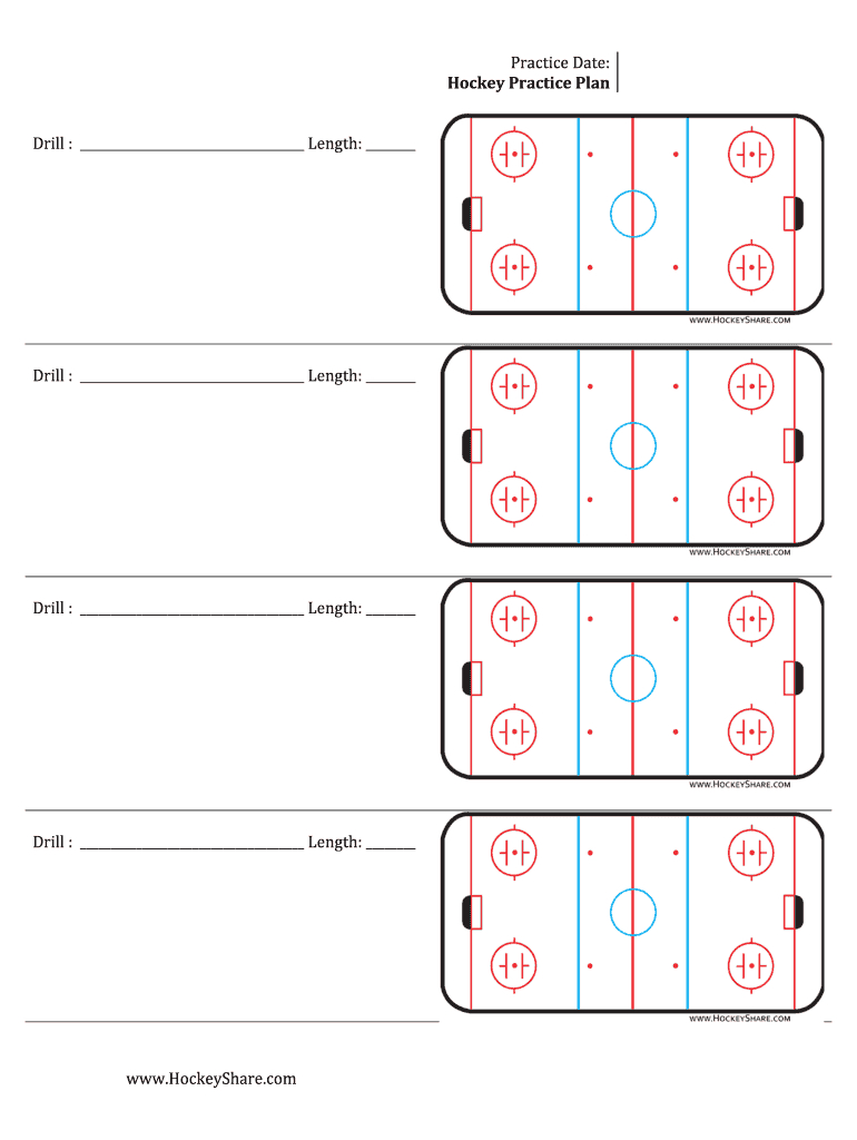 Hockey Practice Plan Template - Fill Online, Printable Intended For Blank Hockey Practice Plan Template