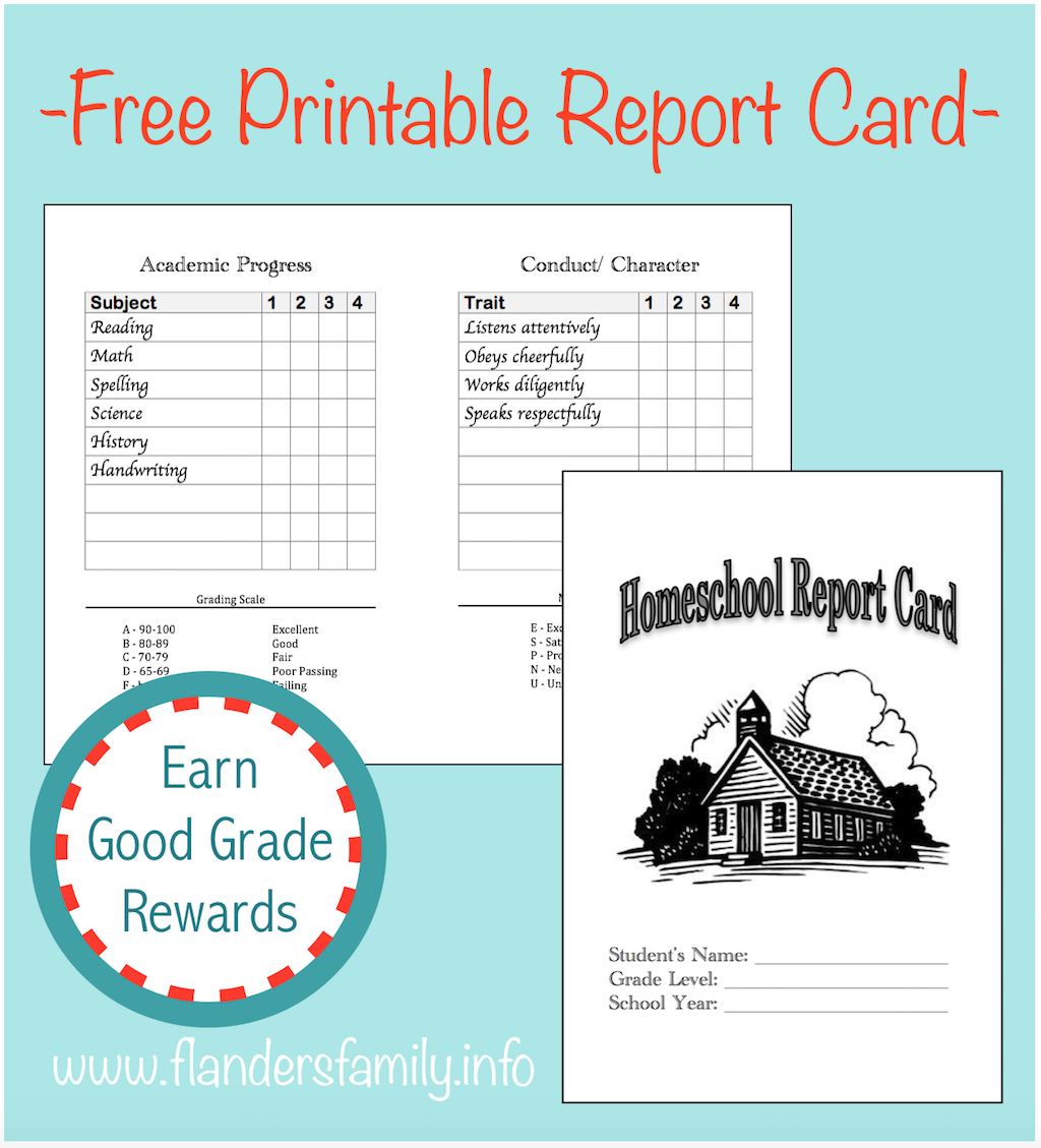Homeschool Report Cards - Flanders Family Homelife With Homeschool Report Card Template