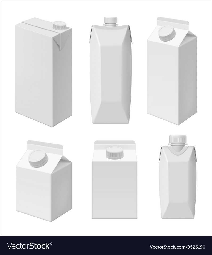 Juice And Milk Blank Packaging Template With Regard To Blank Packaging Templates