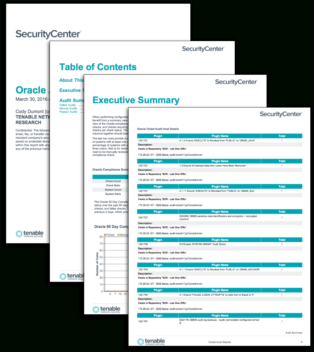 Oracle Audit Results - Sc Report Template | Tenable® Regarding Security Audit Report Template