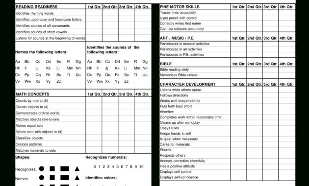 Preschool Report Card | Templates At Allbusinesstemplates inside Character Report Card Template