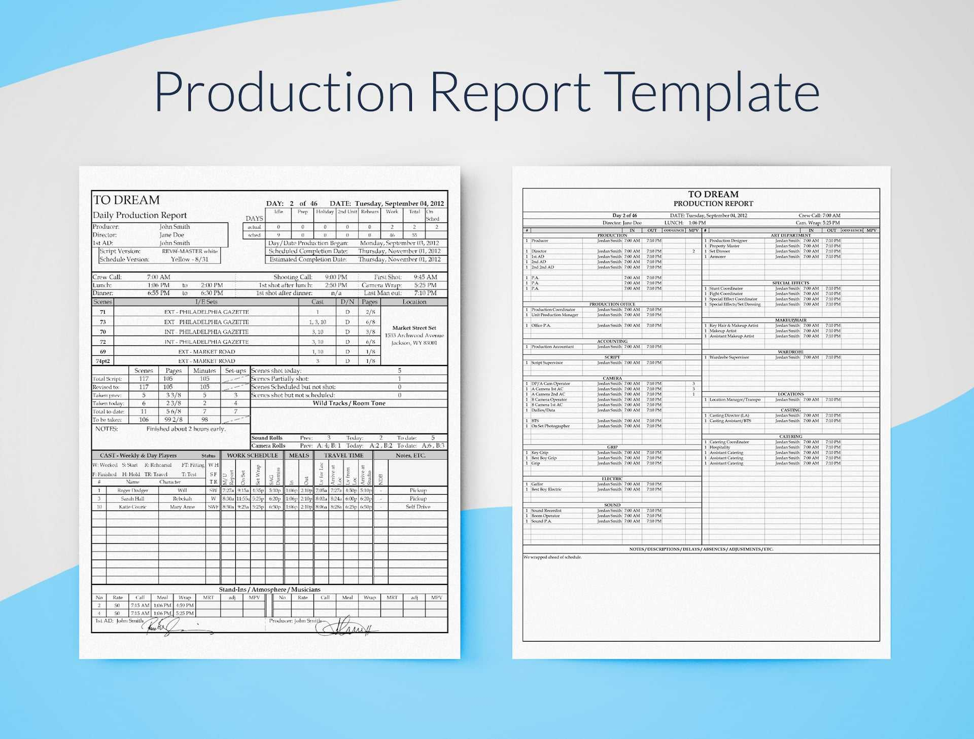 Production Report Template For Excel - Free Download | Sethero Intended For Production Status Report Template