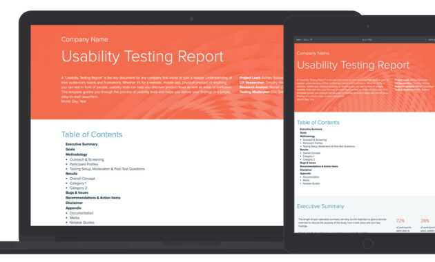 Usability Testing Report Template And Examples | Xtensio pertaining to Ux Report Template