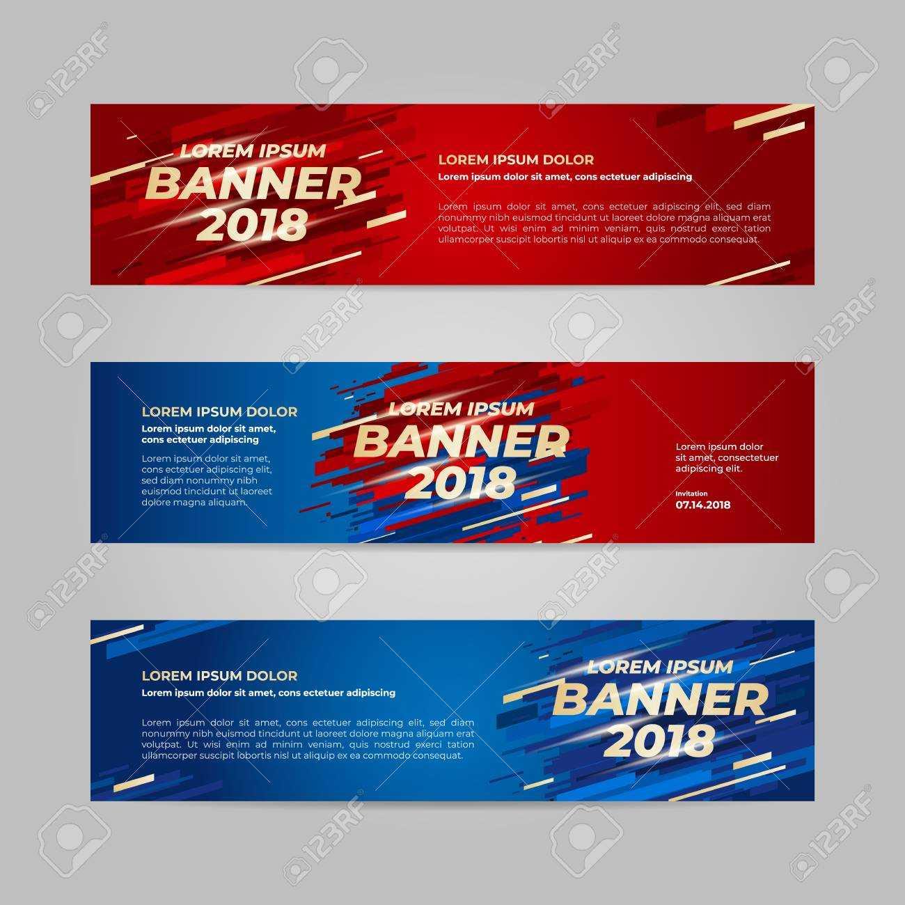 Vector Design Banner Web Template For Sport Event, 2018 Trend Intended For Event Banner Template