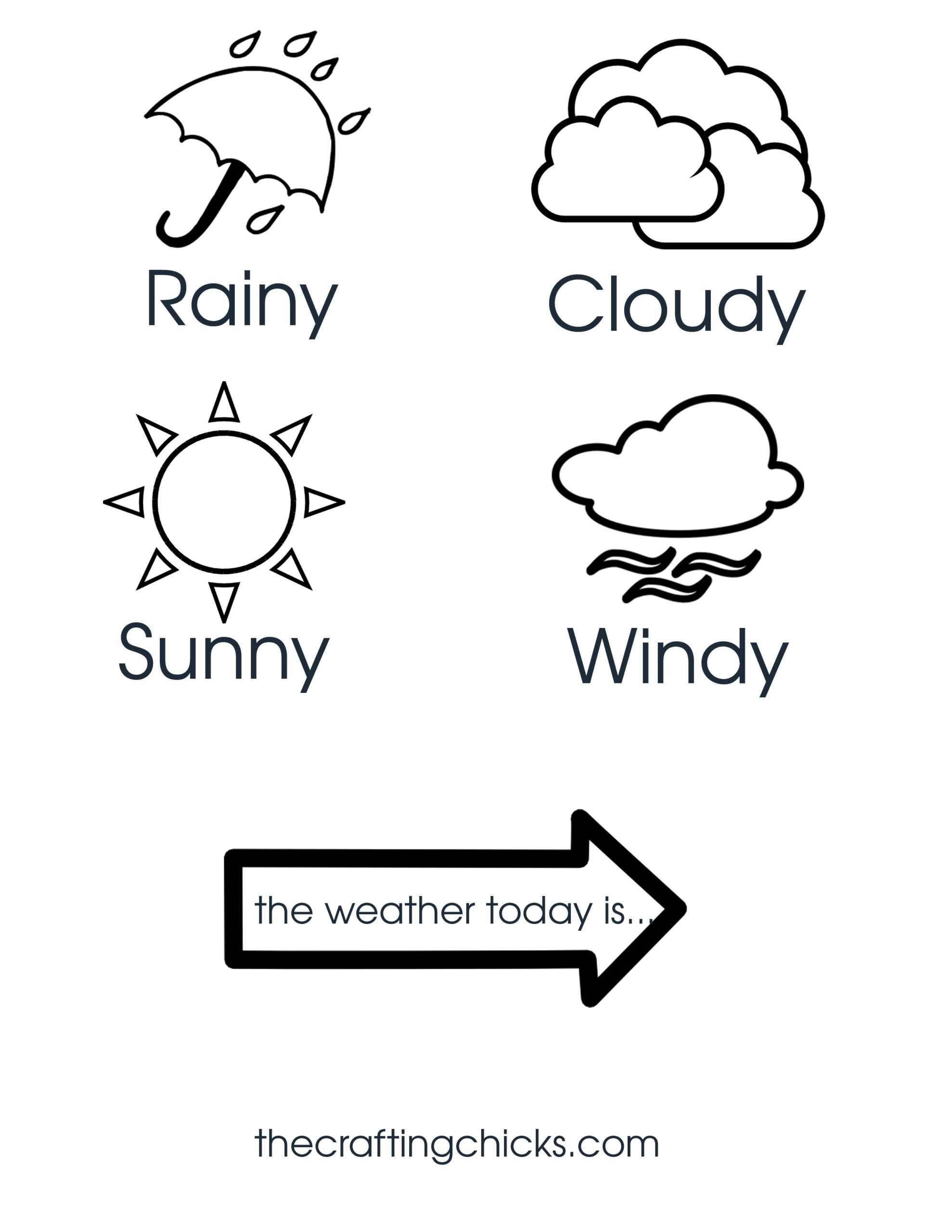 Weather Chart Kid Craft - The Crafting Chicks Inside Kids Weather Report Template